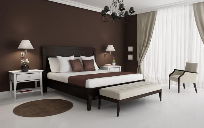 Schlafzimmer-braun-Eine-wunderschöne-Deko