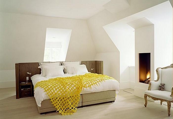 Schlafzimmer-farblich-gestalten-mit-Gelb-Ein-auffälliges-Design