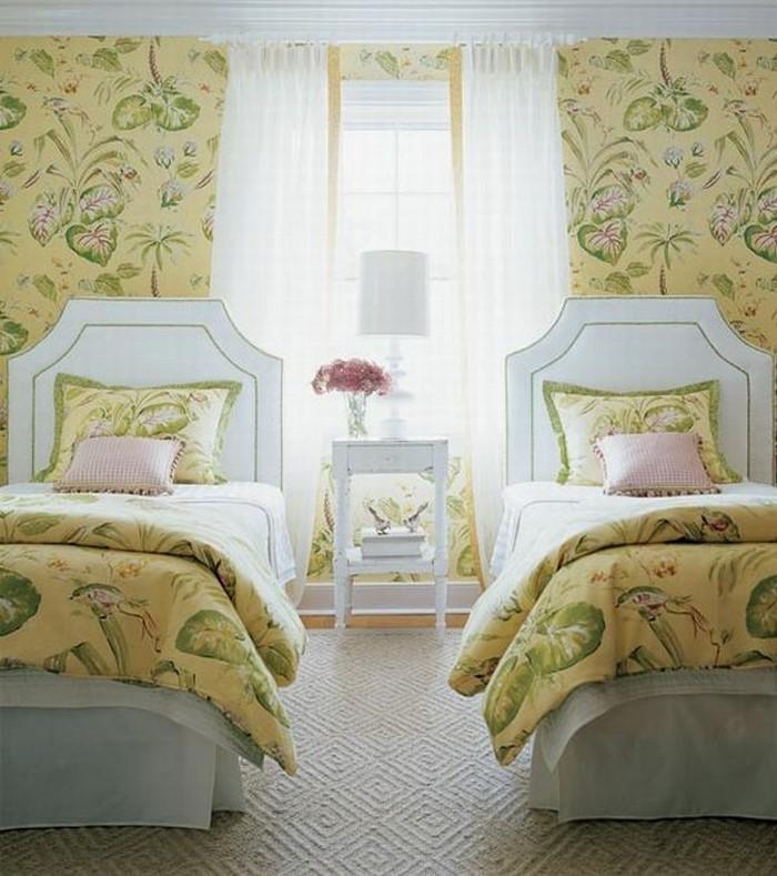 Schlafzimmer Dachschrage Farblich Gestalten : Schlafzimmer farblich gestalten 69 Wohnideen mit der Farbe Gelb!
