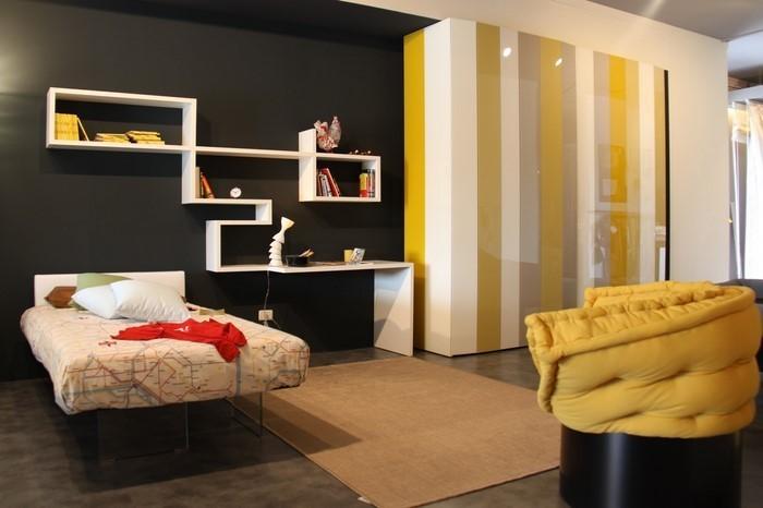 Schlafzimmer-farblich-gestalten-mit-Gelb-Eine-außergewöhnliche-Gestaltung