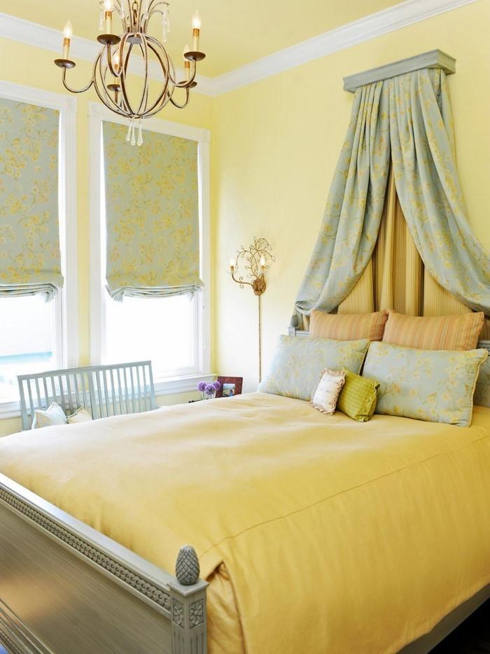 Schlafzimmer-farblich-gestalten-mit-Gelb-Eine-auffällige-Gestaltung