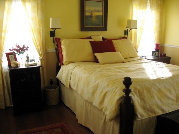 Schlafzimmer-farblich-gestalten-mit-Gelb-Eine-kreative-Ausstrahlung