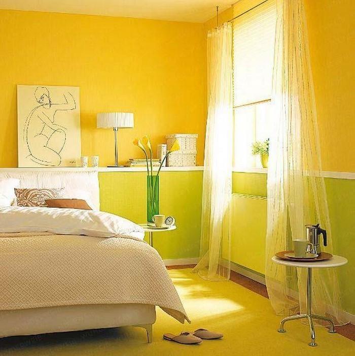 Schlafzimmer farblich gestalten: 69 Wohnideen mit der Farbe Gelb!