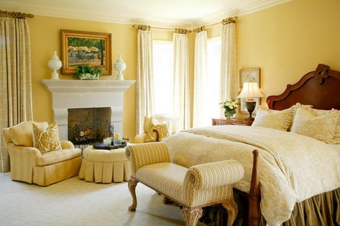 Schlafzimmer-farblich-gestalten-mit-Gelb-Eine-kreative-Dekoration