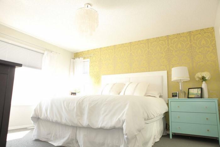 Schlafzimmer Mit Tapete Gestalten : Farblich Gestalten Und Tapete : Schlafzimmer-farblich-gestalten-mit