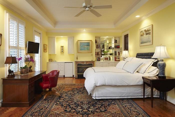 Schlafzimmer-farblich-gestalten-mit-Gelb-Eine-moderne-Gestaltung