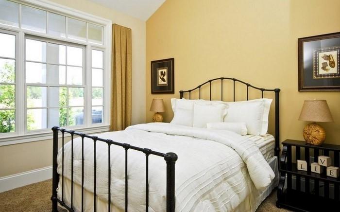 Schlafzimmer-farblich-gestalten-mit-Gelb-Eine-verblüffende-Deko