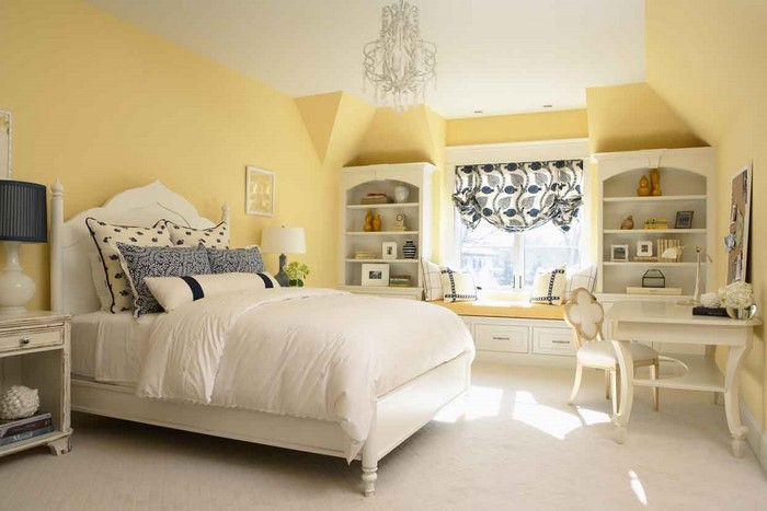 Schlafzimmer Gestalten Farblich : SchlafzimmerfarblichgestaltenmitGelbEineverblüffendeDekoration