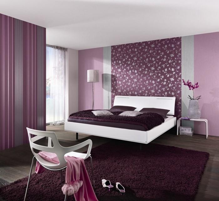 das schlafzimmer lila gestalten 67 einmalige wohnideen!, Schlafzimmer ideen