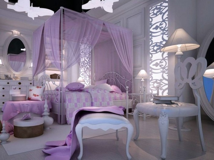 Schlafzimmer-lila-Ein-cooles-Interieur