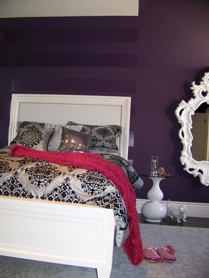 Provokatives Lila Design Schlafzimmer ~ Die Besten Einrichtungsideen ...