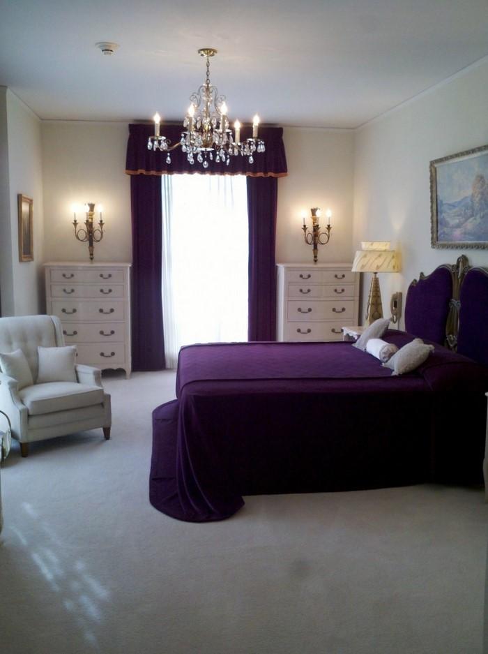 Schlafzimmer-lila-Ein-super-Interieur