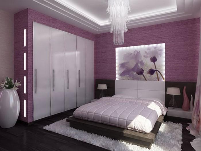 Schlafzimmer-lila-Ein-verblüffendes-Interieur