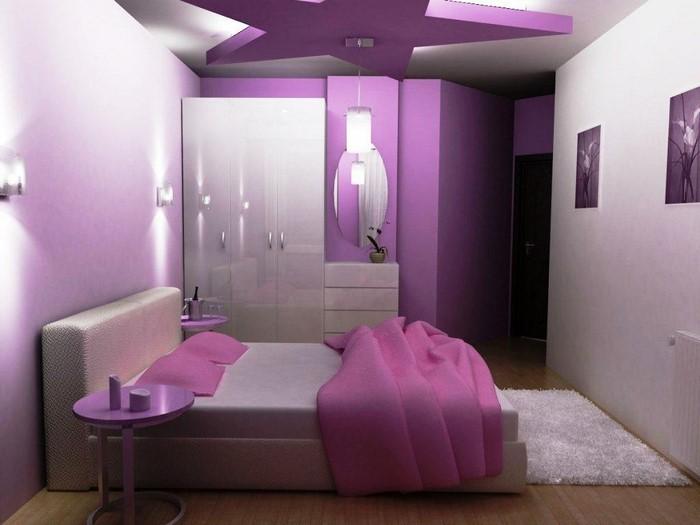 Schlafzimmer-lila-Eine–coole-Entscheidung