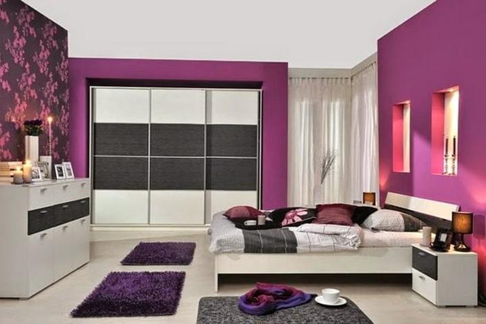 Das Schlafzimmer Lila Gestalten 67 Einmalige Wohnideen! Schlafzimmer Farben Lila