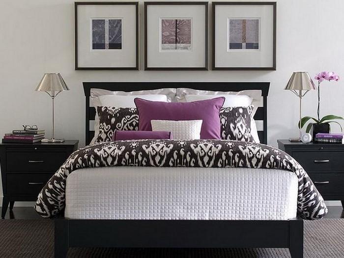 Schlafzimmer-lila-Eine-kreative-Dekoration