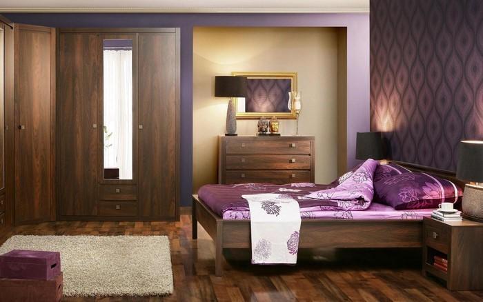 Schlafzimmer komplett günstig in Lila:Eine coole Ausstrahlung