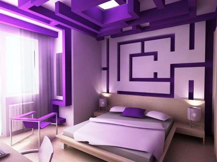 Modernes schlafzimmer lila  Das Schlafzimmer lila gestalten 67 einmalige Wohnideen!