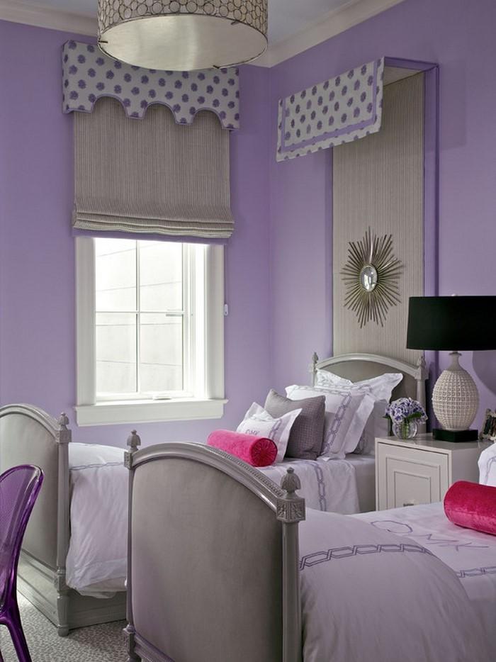 Schlafzimmer-lila-Eine-moderne-Dekoration
