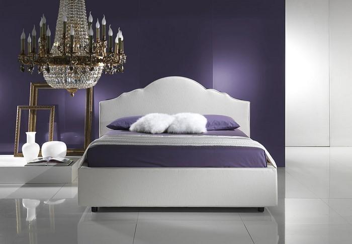 Provokatives Lila Design Schlafzimmer | Möbelideen