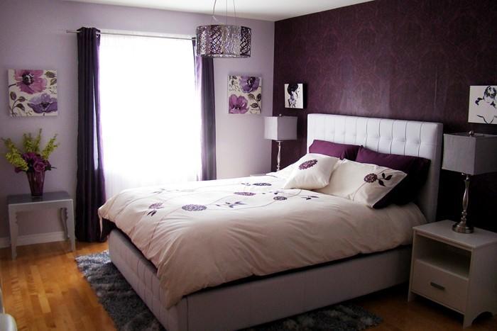 Schlafzimmer-lila-Eine-moderne-Gestaltung
