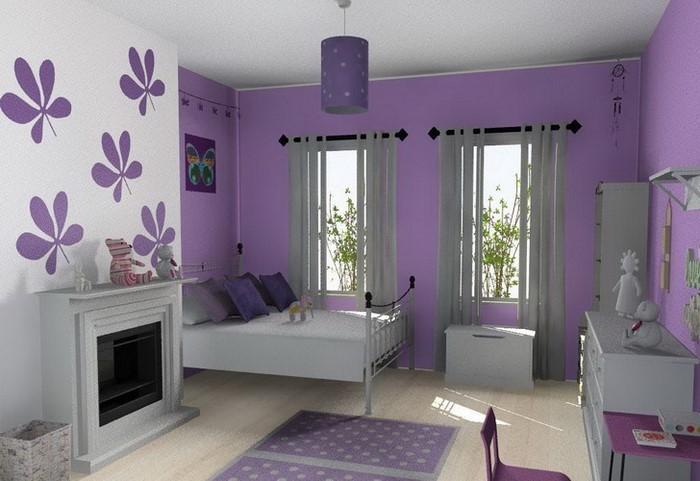 schlafzimmer gestalten in lila ihr traumhaus ideen. Black Bedroom Furniture Sets. Home Design Ideas