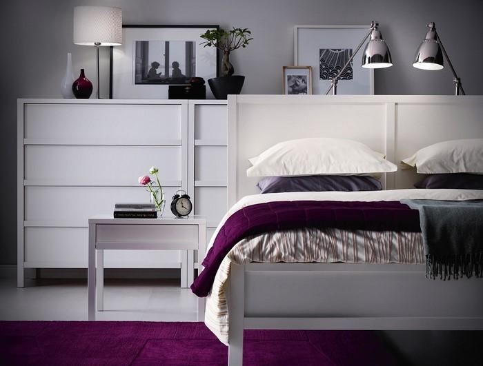 Schlafzimmer-lila-Eine-verblüffende-Ausstattung