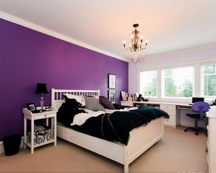 Schlafzimmer-lila-Eine-verblüffende-Dekoration