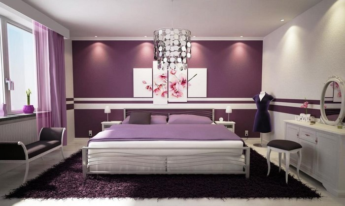 Schlafzimmer-lila-Eine-wunderschöne-Ausstrahlung
