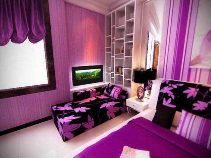 Schlafzimmer-lila-Eine-wunderschöne-Deko