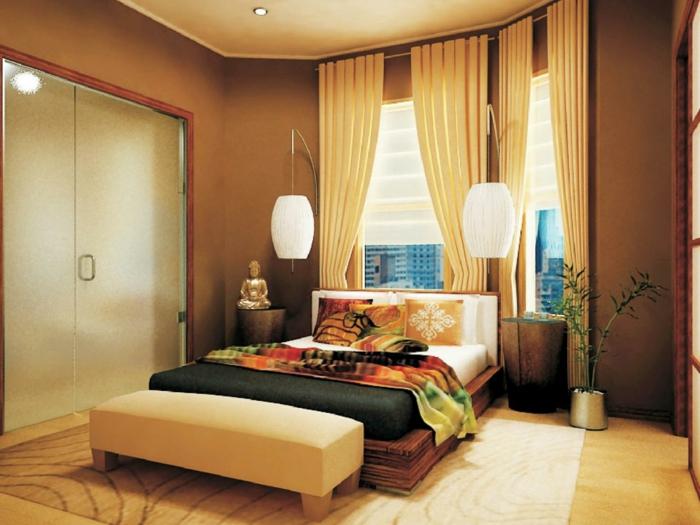 Schlafzimmer-nach-Feng-Shui-mit-Budah
