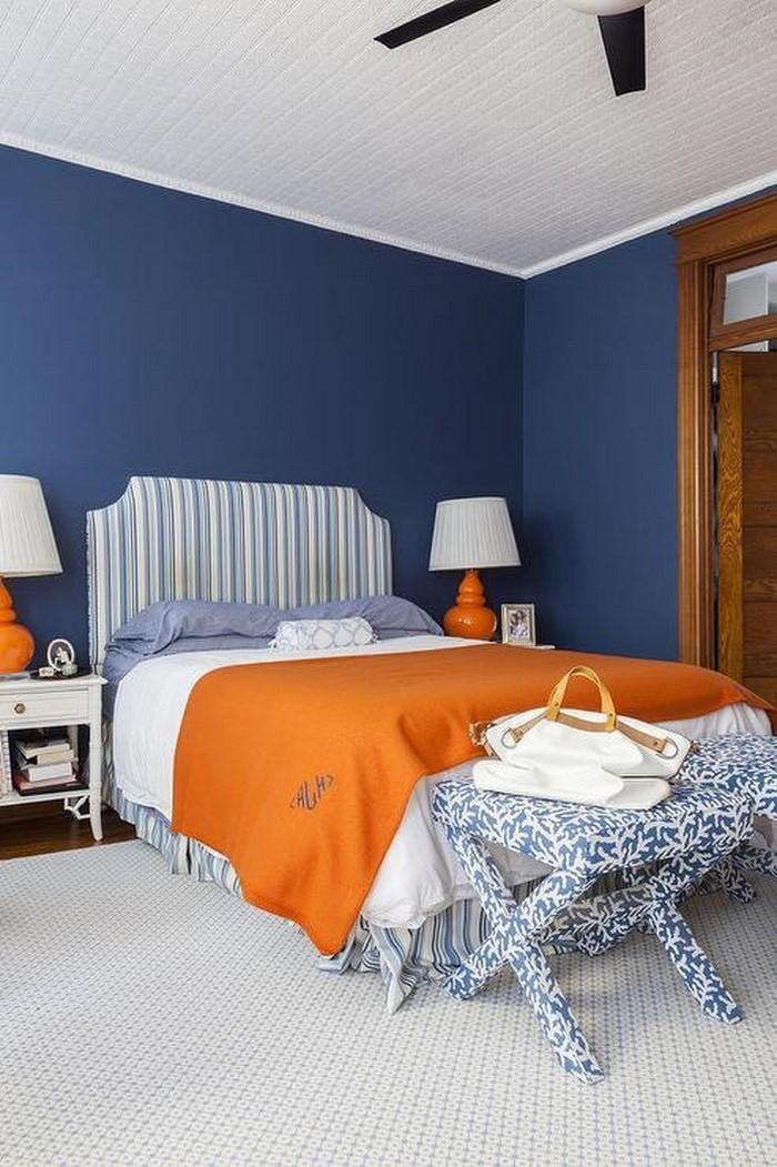 Schlafzimmer-orange-Ein-außergewöhnliches-Design