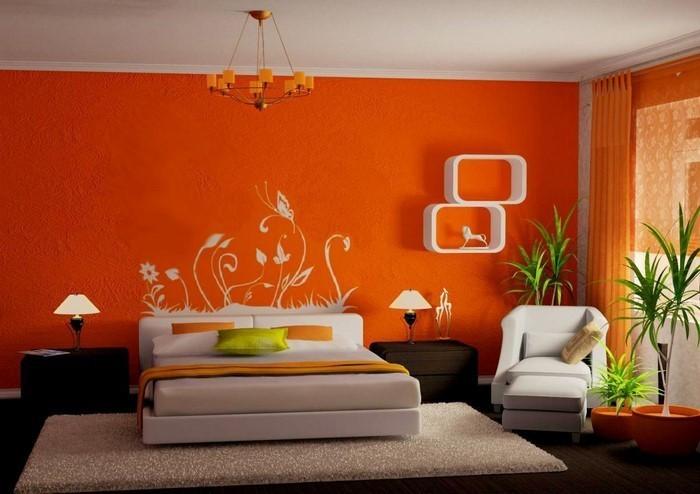 Schlafzimmer-orange-Ein-außergewöhnliches-Interieur