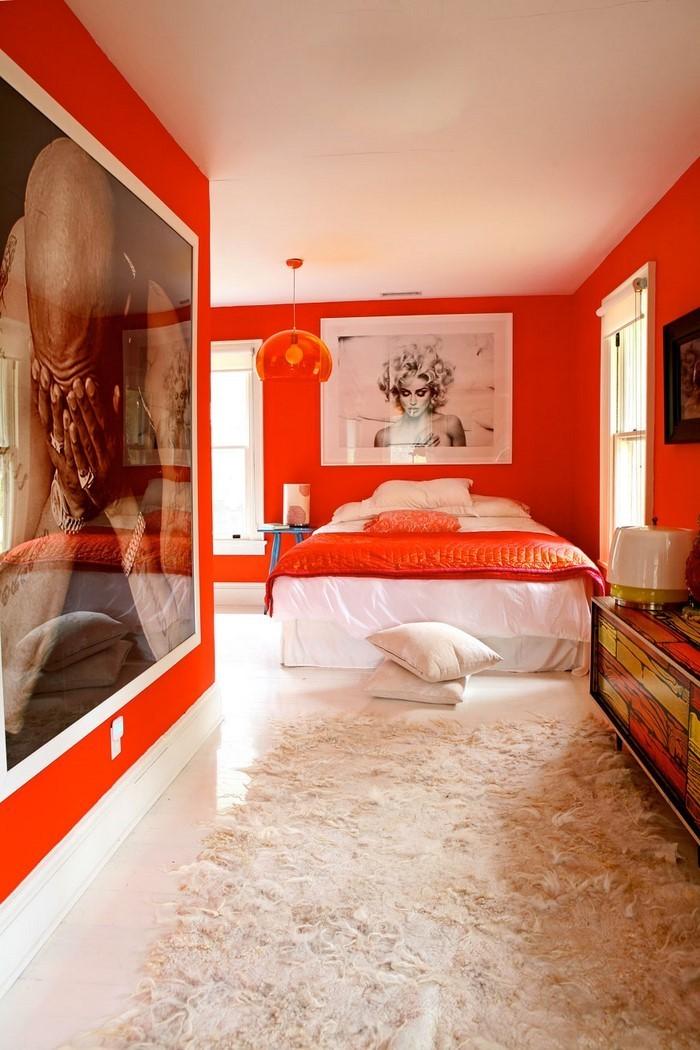 Schlafzimmer-orange-Ein-cooles-Design
