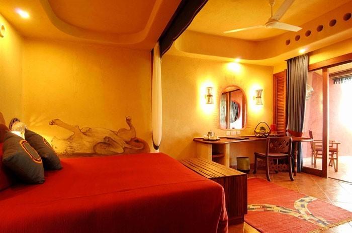 Schlafzimmer-orange-Ein-cooles-Interieur