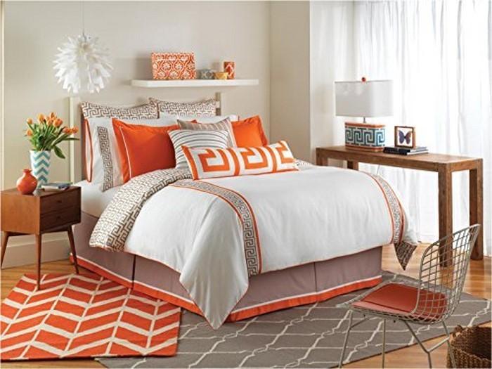schlafzimmer orange. Black Bedroom Furniture Sets. Home Design Ideas