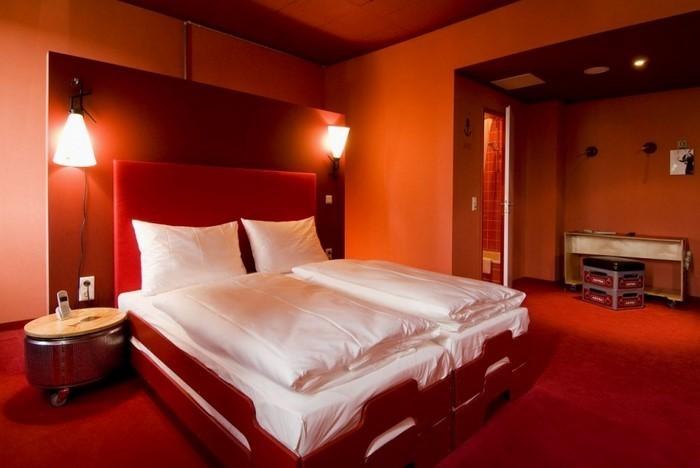 Schlafzimmer-orange-Ein-modernes-Design