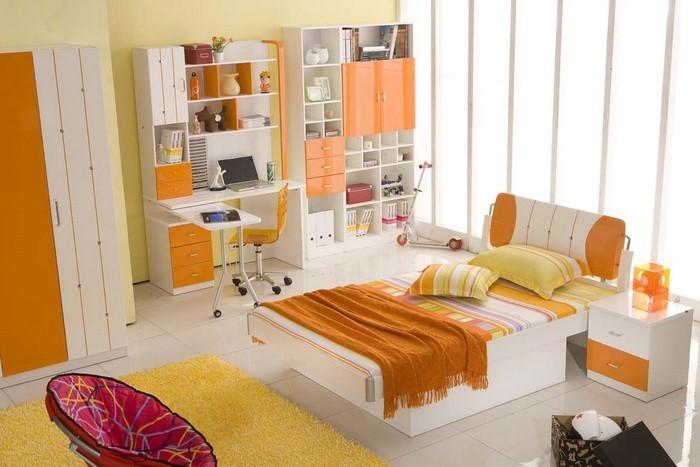 Schlafzimmer-orange-Ein-super-Design