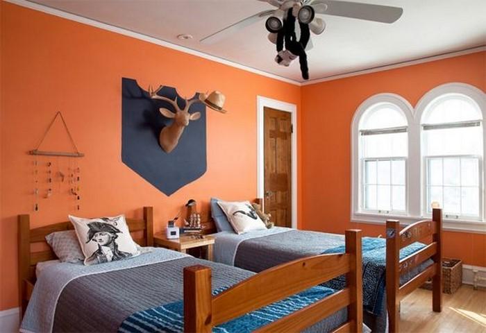 Schlafzimmer-orange-Ein-super-Interieur
