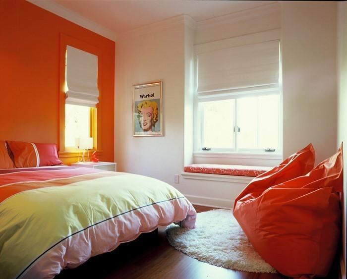 Schlafzimmer-orange-Ein-verblüffendes-Design