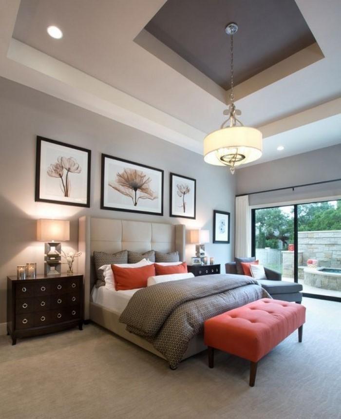 Schlafzimmer-orange-Ein-verblüffendes-Interieur
