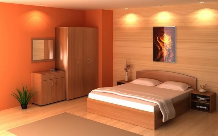 Schlafzimmer-orange-Eine–coole-Entscheidung