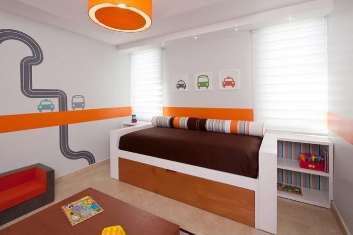 Schlafzimmer-orange-Eine-außergewöhnliche-Ausstattung