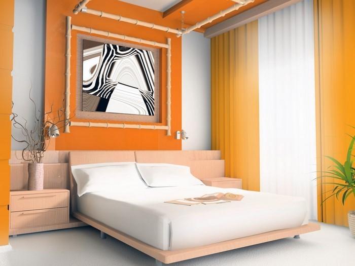 Schlafzimmer-orange-Eine-außergewöhnliche-Ausstrahlung