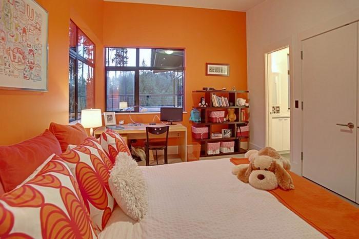 Schlafzimmer-orange-Eine-außergewöhnliche-Gestaltung