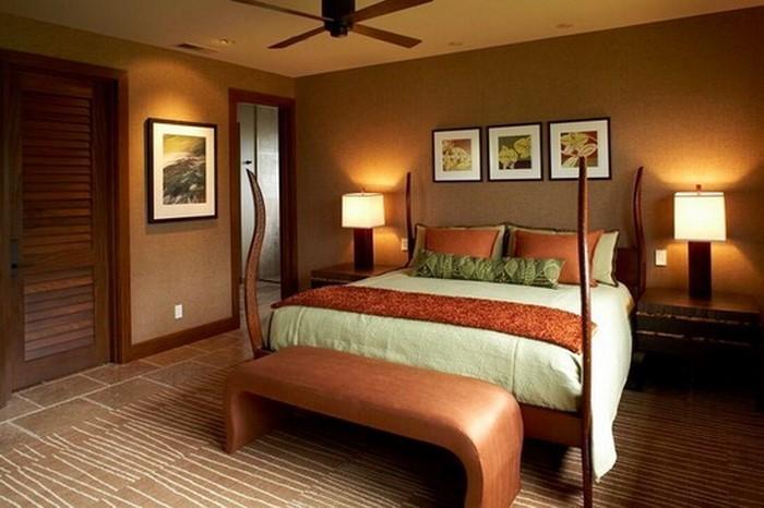 Schlafzimmer-orange-Eine-auffällige-Еinrichtung