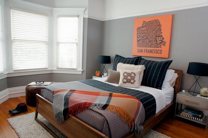 Charmant Schlafzimmer In Orange Einrichten Und Dekorieren ...