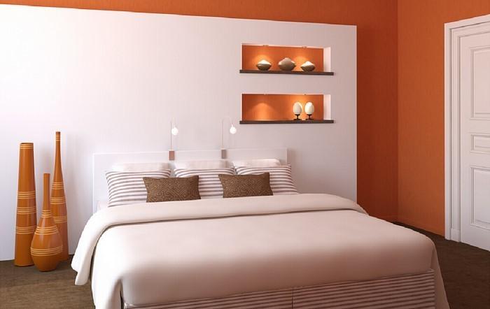 Schlafzimmer-orange-Eine-auffällige-Entscheidung