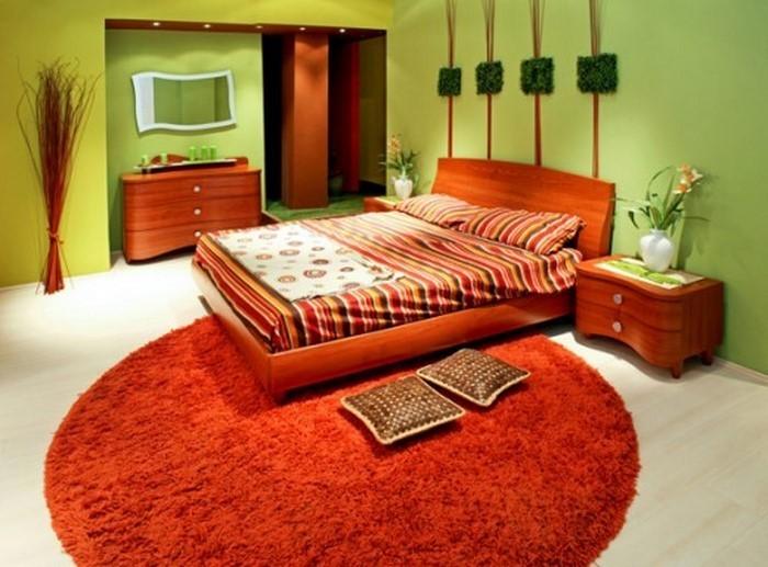 Schlafzimmer-orange-Eine-auffällige-Gestaltung
