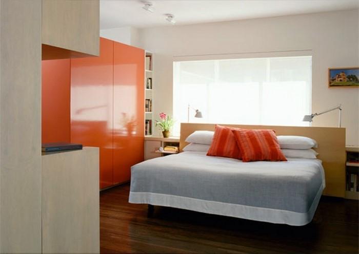 Schlafzimmer-orange-Eine-coole-Dekoration